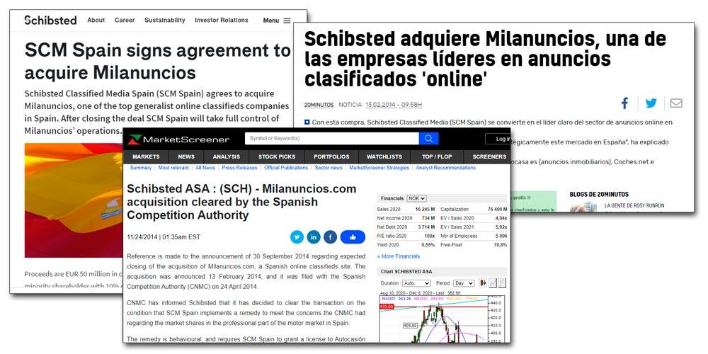 Noticias de la venta de Milanuncios