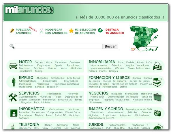 Web de Milanuncios