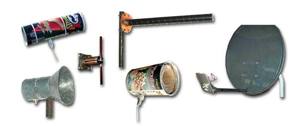 Distintos modelos de antenas caseras