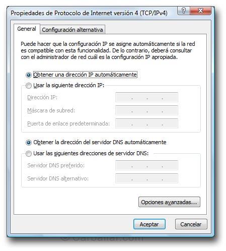 Configuración de DHCP en un ordenador con Windows