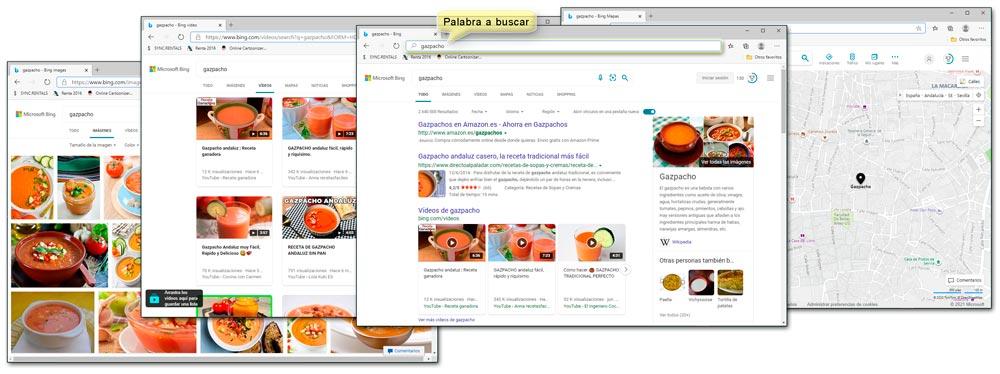 Búsqueda de imágenes, vídeos, webs y mapa de la palabra Gazpacho