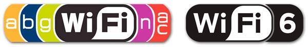 El nuevo logo de Wi-Fi 6 y los utilizados con las tecnologías anteriores