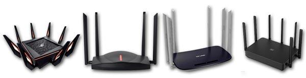 Ejemplo de routers Wi-Fi 6