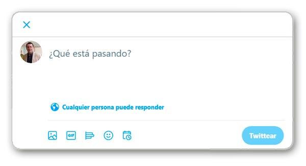 Escribir en Twitter