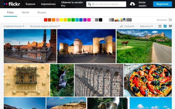Flickr (compartir fotografías)