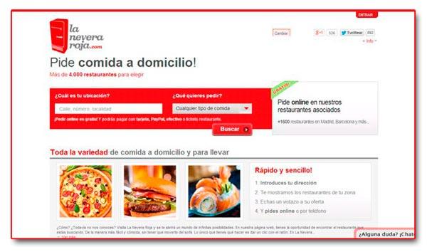Web de La Nevera Roja (2014)