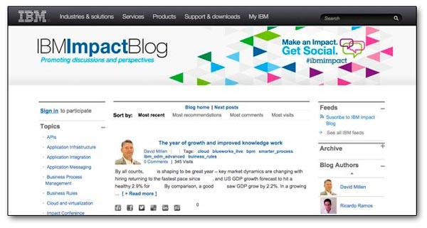 Blog corporativo de IBM